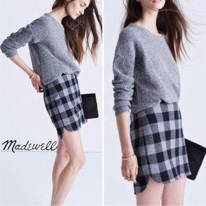 Madewell | Shirttail Skirt in Buffalo Plaid